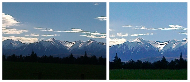 Southern Alps, Oxford, original photo, 2012 — Cropped and Photoshopped photo, 2014