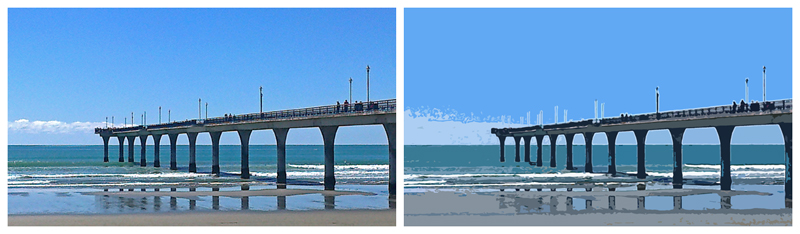 New Brighton Pier, original photo, 2013 — Cropped and Photoshopped, 2014 (click to embiggen)