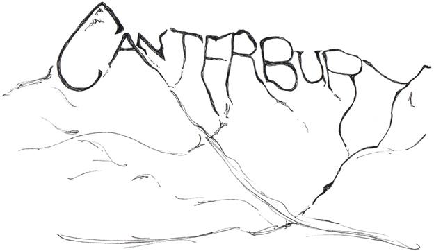 Canterbury Alps sketch, 2012