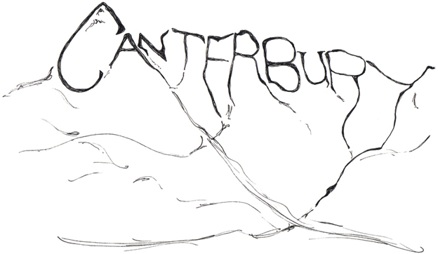 Canterbury Alps sketch, 2012