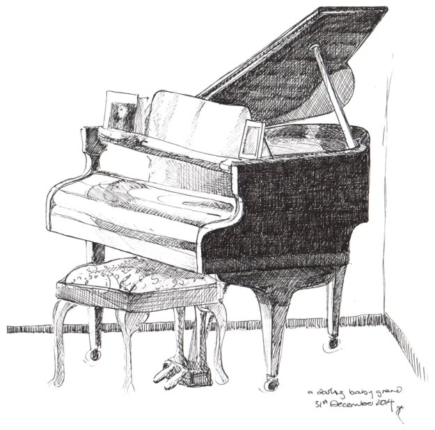 Baby Grand, Melbourne — ink sketch, 2014