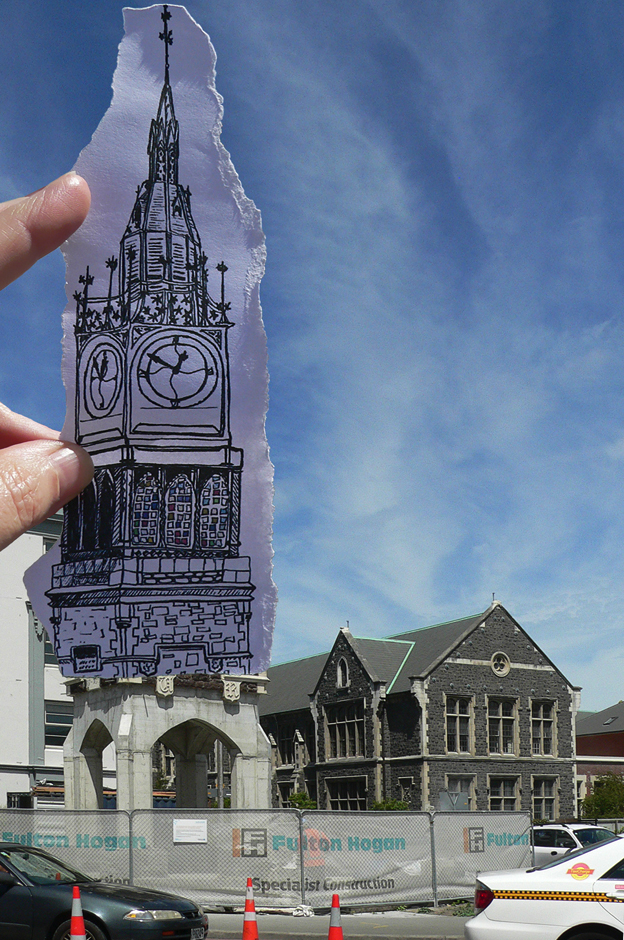Pen vs earthquake #7 – Jubilee Clock Tower, 2014