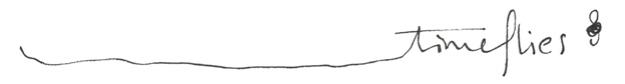 Time flies, ink doodle, 2015