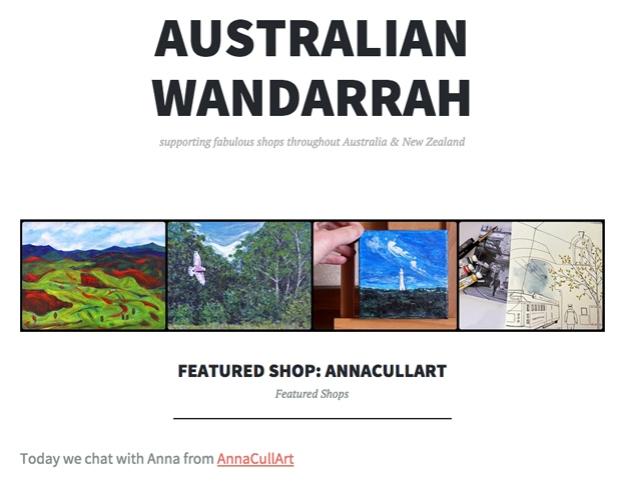 Australian Wandarrah Anna Cull Art interview 2015