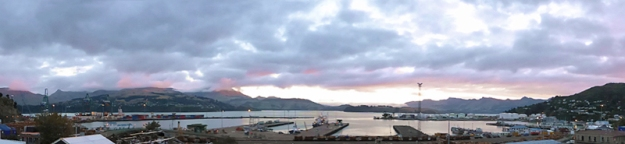 Lyttelton panorama (original photo reference), 2014