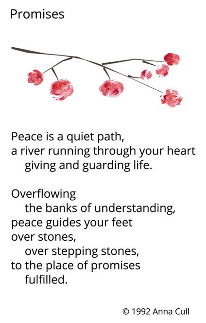Anna Cull Promises poem