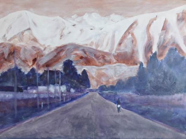 On the road again, WIP – acrylic on canvas