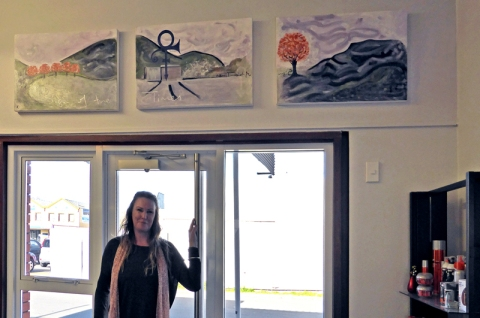 Sonya and her paintings