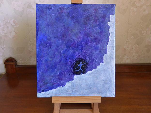 Runner — acrylic on canvas, 305 x 255 mm