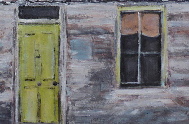 Tin roof rusted – door detail