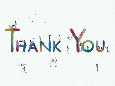 Thank You, 2012 — original ink and acrylic illustration