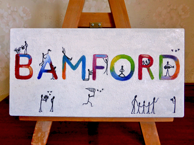 Bamford (private commission) – acrylic on canvas, 150 x 305 mm, 2015