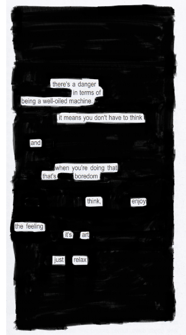 Blackout poem #7